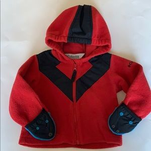 Columbia red toddler boy sweater size 18 months